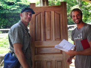 KIRF Co-Founder Mark Kirwin with Bo Fox of Project WOO purchasing doors in Rivas. Photo: Kai R. Kirwin