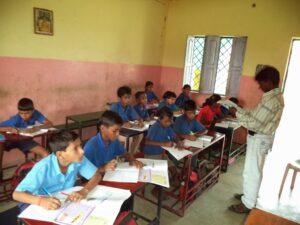 The Shekhwara Village School in class