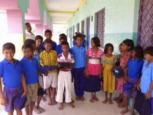 Children outside The Shekhwara Village School