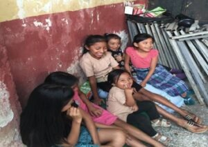 Local children waiting for the school festival.