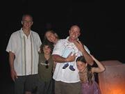 Photo of Mark, Kai, Angela, Stephen with Ronin, Makani Kirwin